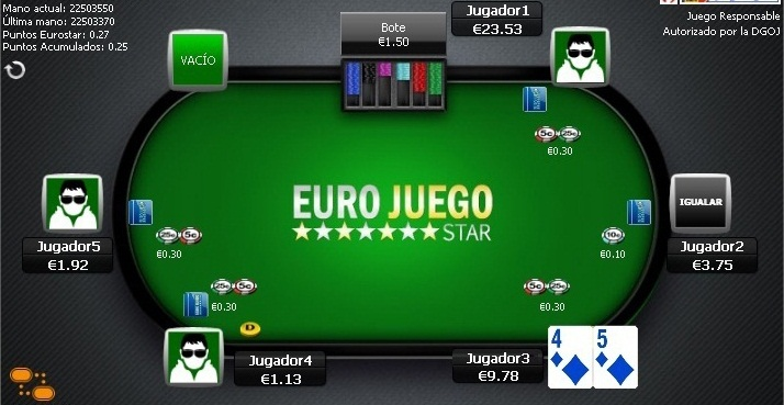 Registrate y juega poker con Eurojuego star y recibe el mejor bono de bienvenida